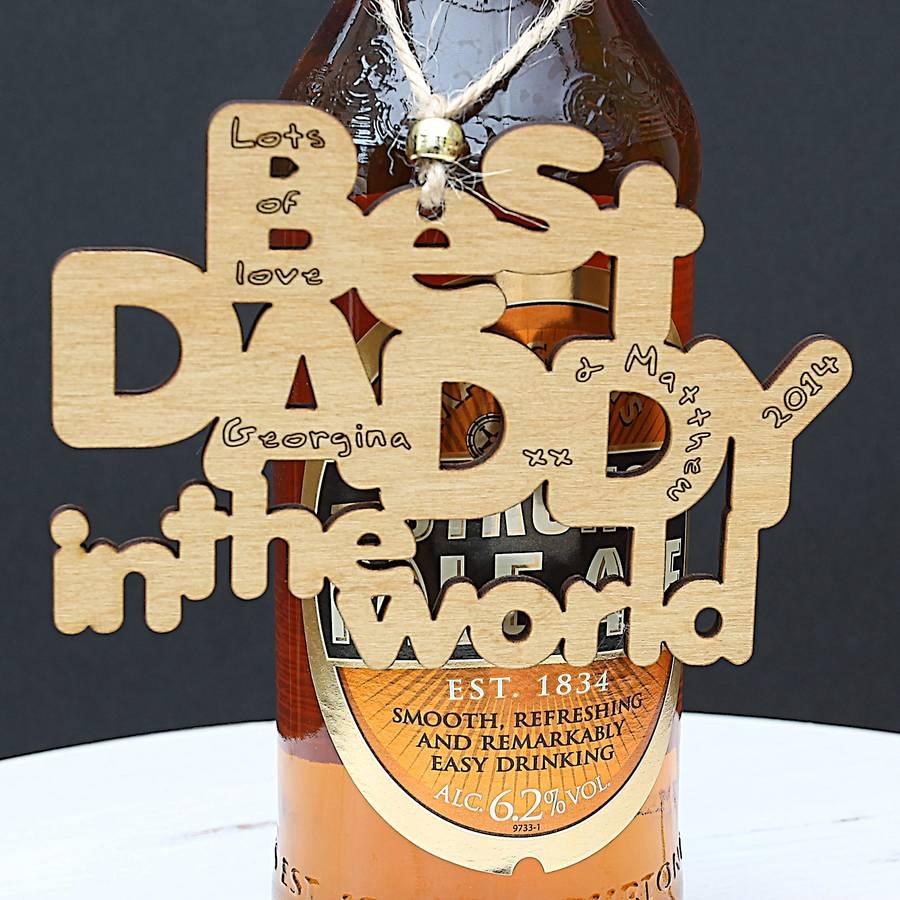 Personalised 'Best Daddy' Gift Tag Keepsake