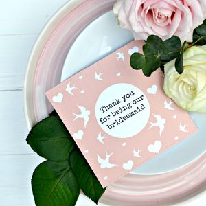 Thank You Bridesmaid Plantable Paper Gift Packet - new in wedding styling