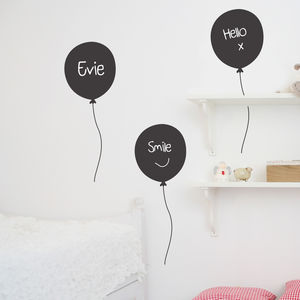 Set Of Three Chalkboard Balloons - wall stickers