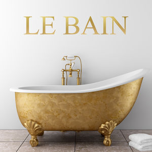 La Bain Wall Sticker - wall stickers