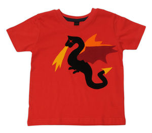Dragon On Red T Shirt