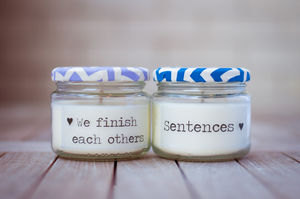 Pair Of Personalised Message Candles