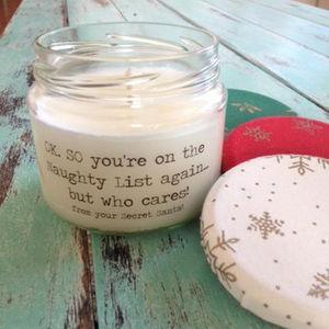 Secret Santa Christmas Candle