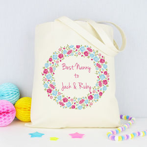 Personalised 'Best Nanny' Shopping Bag - bags & purses