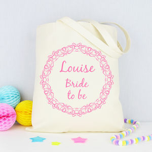 Personalised 'Bride To Be' Tote Bag