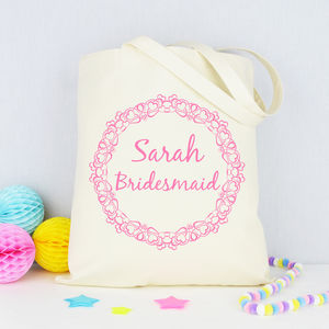 Personalised 'Bridesmaid' Tote Bag - hen party gifts & styling