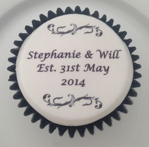 Wedding Anniversary Cupcake Toppers