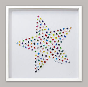 Bright Star Hand Cut Artwork - nursery pictures & prints