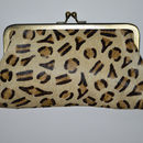Large leather purse in leopard