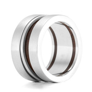 Wood Ring Kinetic Trundle - wedding jewellery