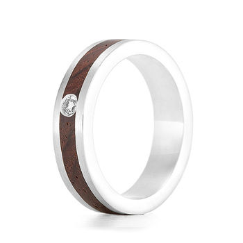 Wood Ring Native Diamond