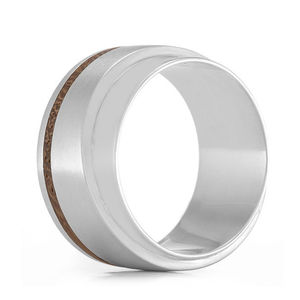'Layer' Silver And Wood Ring