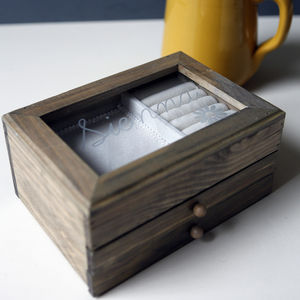 Personalised Modern Wooden Jewellery Box - shop by recipient