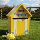 Beach Hut Wooden Wedding Post Box