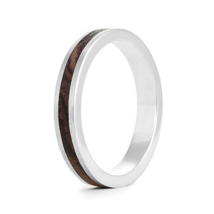 Native Silver And Wood Ring - rings