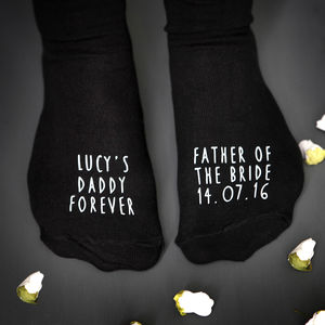 Father Of The Bride Wedding Socks - men's fashion