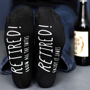 Personalised Retirement Socks - retirement gifts