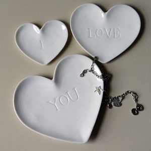 Jewellery Storage Dish Set Set Of Three I Love You - jewellery storage & trinket boxes