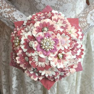Rose Felt Bridal Bouquet - flowers, bouquets & button holes
