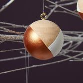 Copper Handpainted Christmas Baubles - christmas
