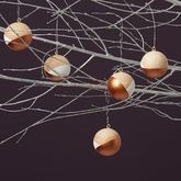 Copper Handpainted Christmas Baubles - christmas decorations