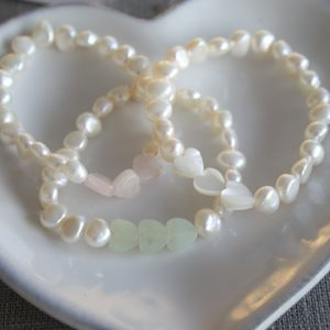 Girls Trio Of Hearts Bracelet