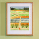 Fox In The Kitchen Garden Print