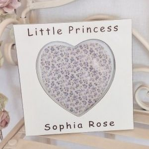 Little Princess Personalised Heart Frame - baby's room
