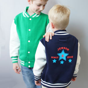 Child's Personalised College Varsity Jacket - children's jumpers