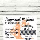 Nautical Pocket Fold Wedding Invitation