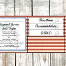 Nautical Stripe Pocket Fold Wedding Invitation