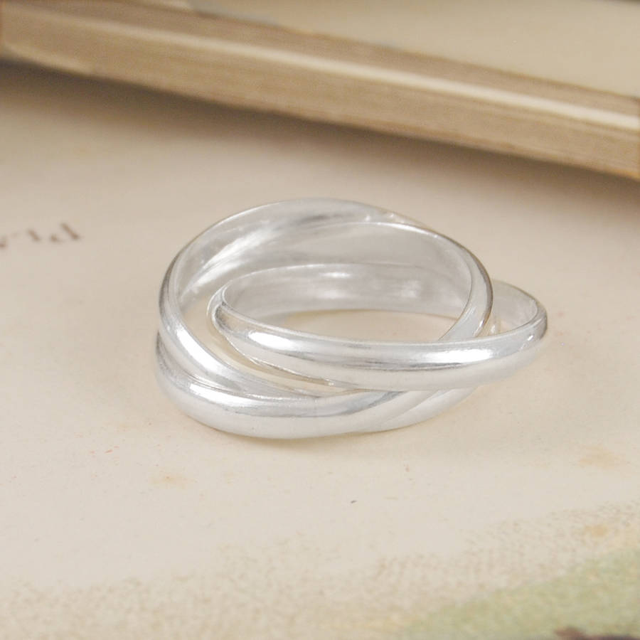 Polished Silver Russian Wedding Ring