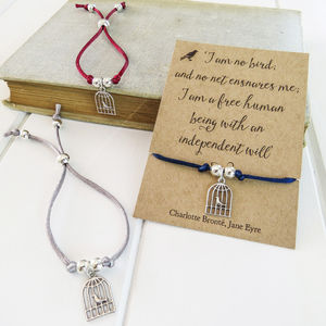 Jane Eyre Birdcage Friendship Bracelet - winter sale