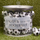 Personalised Bucket Of Chocolate Footballs