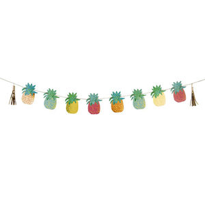 Tropical Pineapple Garland - outdoor decorations