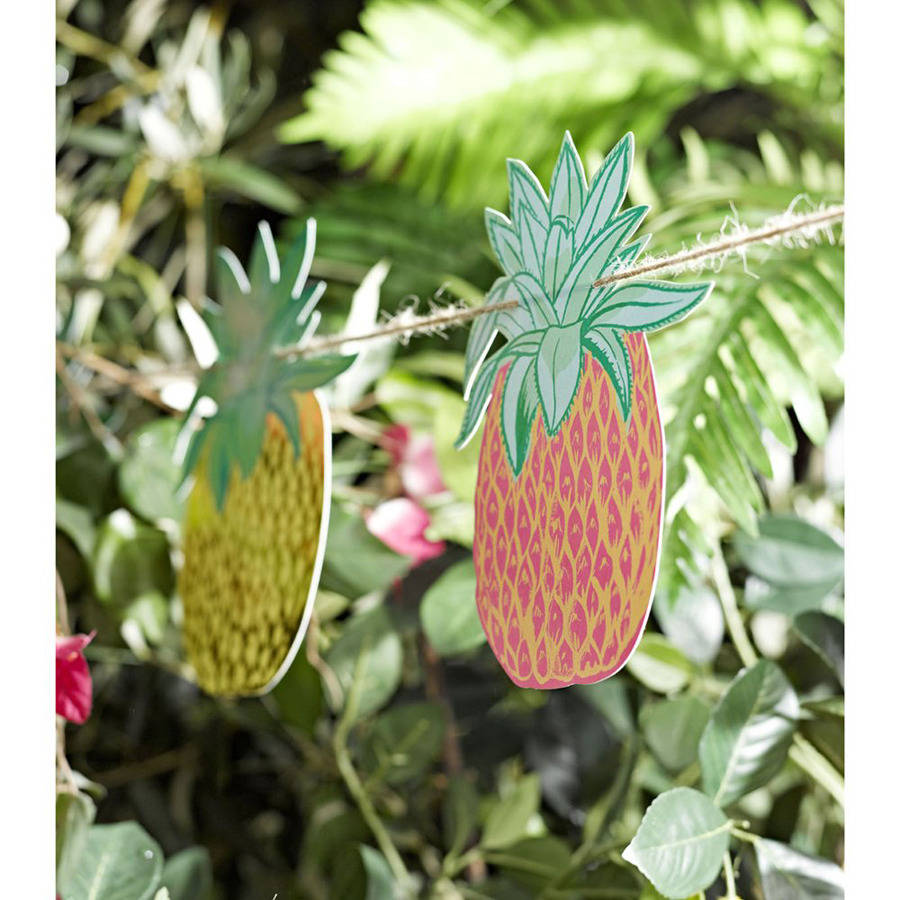 tropical pineapple garland by postbox party. Black Bedroom Furniture Sets. Home Design Ideas