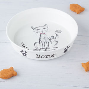 Personalised Cat Food Bowl - gifts for pets