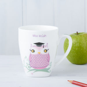 Personalised Teacher Mr Or Miss Owl Mug/Card - mugs