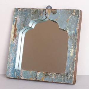 Reclaimed Wooden Temple Mirror - children's room