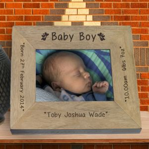 Baby Boy Personalised Picture Frame - children's room accessories