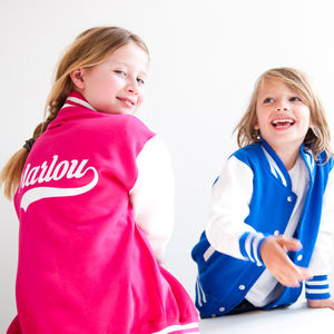 Personalised Child's Varsity Jacket - clothing