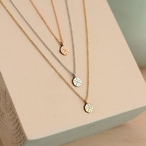 9ct Gold Mini Posh Tag Necklace - gold & diamonds