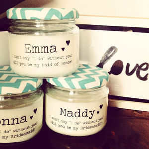 'Will you…' Bridesmaid / Maid Of Honour Candle - bedroom