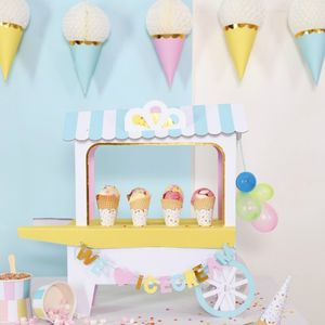 Ice Cream Cart Centrepiece - children's parties