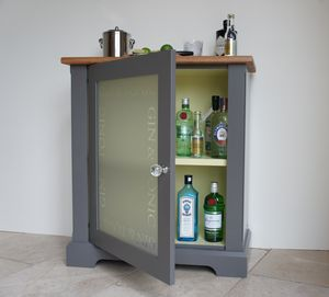 Gin And Tonic Drinks Cabinet In Choice Of Colours - drink & barware