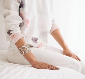 Silver Filigree Links Bangle - bracelets & bangles