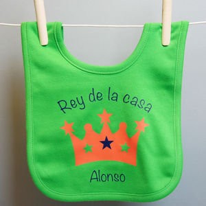 Personalised Crown Bib
