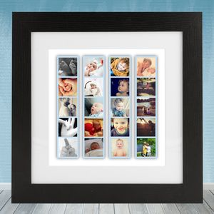 Personalised Photo Booth Strip Frame In Seven Colours - posters & prints for children