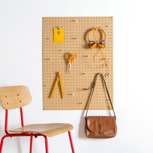 Pegboard With Wooden Pegs, Large