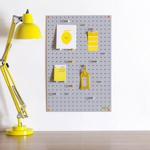Grey Pegboard With Wooden Pegs, Medium - noticeboards